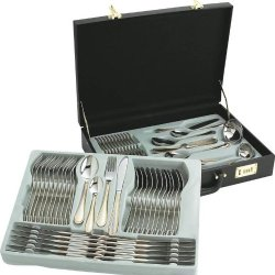 Sterlingcraft® 72Pc High-Quality, Heavy-Gauge Stainless Steel Flatware And Hostess Set With 24K Gold-Plated Trim