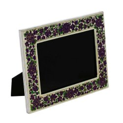 Photo Frames Paper Mache Kashmir Purple Floral Handmade Gifts Indian
