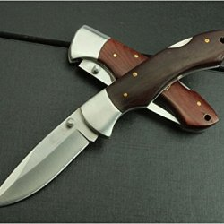Brown Wood Brass Trim Hunter Skinner Knife Bln039-7.36''