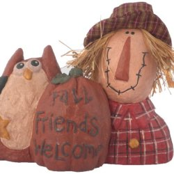 Craft Outlet Papier Mache Scarecrow Figurine, 9-Inch