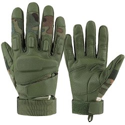 E-Prance Wear-Resisting Full Finger Military Tactical Gloves For Light Assault Military Combat Army Shooting Color Green Size Xl