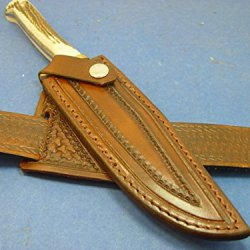 Custom Right Hand Cross Draw Leather Sheath For Puma Original Bowie Knife116396