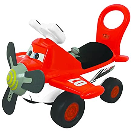 This Dusty Plane is a fun foot-to-floor ride on, helping your toddler develop balance and steering skills. It has four wheels, making riding easy and balance not a problem. With fun lights and sounds, kids will love this Disney ride on. Hear Dusty' s...