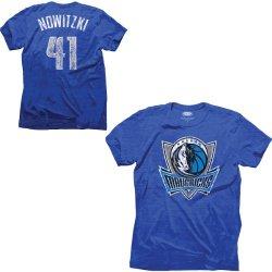 Majestic Threads Dallas Mavericks Dirk Nowitzki Tri-Blend T-Shirt
