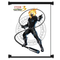 Marvel Vs Capcom 3 Ghost Rider Game Fabric Wall Scroll Poster (16X21) Inches