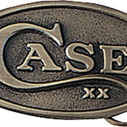 Case Oval Belt Buckle Brass Construction With Embossed Case Xx Logo Shield Measu