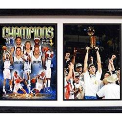 Nba Dallas Mavericks 12X18 Double Frame 2011 Nba Champion Dirk Nowitzki Print