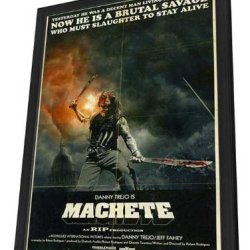 Machete 27 X 40 Movie Poster - Style B - In Deluxe Wood Frame