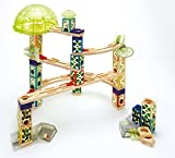 Hape - Quadrilla - Space City Wooden Glow in the Dark Marble Run
