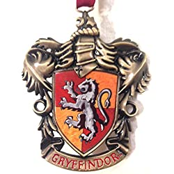 Wizarding World of Harry Potter : Gryffindor House Crest Metal Christmas Tree Ornament