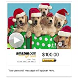 Amazon Gift Card - Email - Caroling Canines (Animated) [American Greetings] [American Greetings]