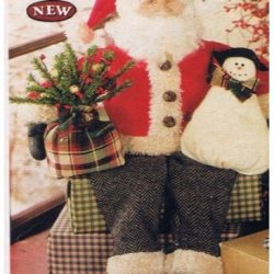 Rustic Santa Claus With Accessories
