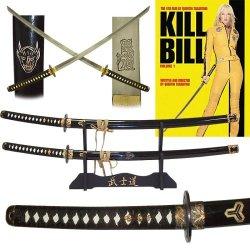Kill Bill Katanas Two Sword Set With Display Stand