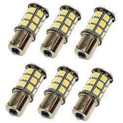 6 X N.R.G 1141 1156 1003 Ba15S Base 27 Led Omni-Directional Light Bulb 10-30V 12V / 24V 405 Lumens - Warm White