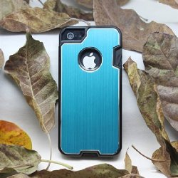 B.N.G Fashion Design Metal Skin Cover With Knife Case For Iphone 5/5S + 1 Camping Multifunctional Knife + 1 Small Gift (Blue)