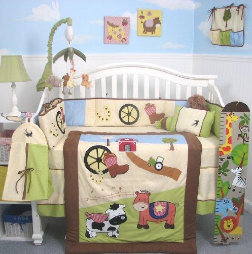 Cute Farm Animal Nursery Fun Barnyard Baby Decor And Bedding