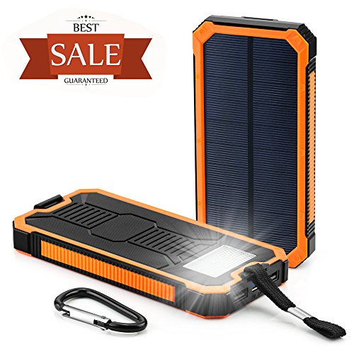 Solar-Cell-Phone-Charger-Grandbeing-15000mAh-Solar-Power-Bank-Portable-Dual-USB-Outdoor-External-Battery-Pack-for-iPhone-Samsung-HTC-Nexus-Smartphone-Gopro-Camera-GPS-and-Tablets-Orange