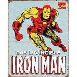 Iron Man Retro Tin Sign , 12X16