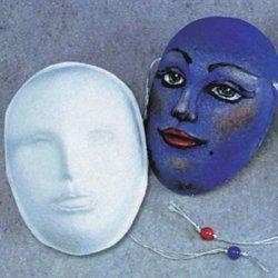 School Specialty Decorative Papier-Mache Art Masks - 8 X 6 X 3 - White