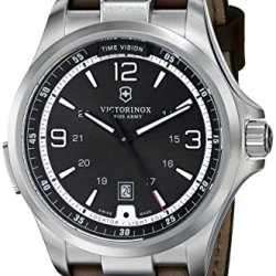 Victorinox Men'S 249068 Night Vision Analog Display Swiss Quartz Brown Watch
