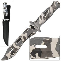 Adversary Deception Traditional Arctic Camo Bowie Knife
