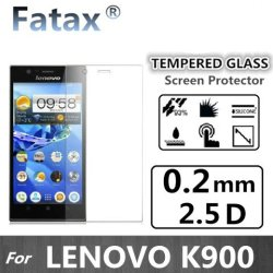 Fatax 0.2Mm Thick Premium Tempered Glass Screen Protector Film Cover 9H Hardness Knife Proof Water And Oil Proof For Lenovo K900 Retail Packing