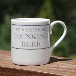 Stubbs Mugs I'D Rather Be Drinking Beer Mug Bone China
