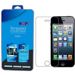 Hofi® Ultimate Premium Tempered Glass Screen Protector For Iphone 5S / Iphone 5C / Iphone 5 (1 Pack)