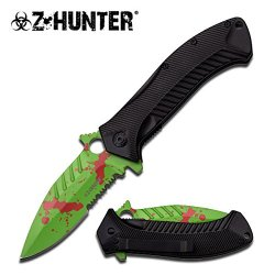 Z Hunter Zb-085Gr Spring Assist Closed Knife, 5-Inch