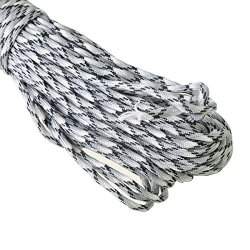 Okeler White 100Ft 550 Lb Paracord Parachute Rope Lanyard Mil Spec Type Iii 7 Strand With Free Pen