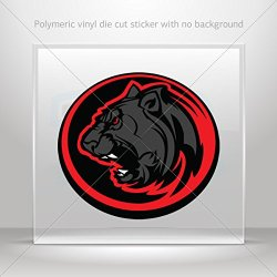 Decal Stickers Black Panther In Circle Hobbies Motorbike Vehicle Tablet Lapto (20 X 18.1 In)