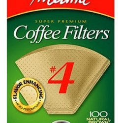 Melitta Cone Coffee Filters Natural Brown #4 100 Count