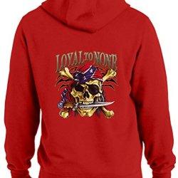 Tshirtsxl Men'S Loyal To None Graphic Hoodie, Small, Red