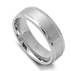 Classic Knife Edges Ring 7Mm Stainless Steel Size 7