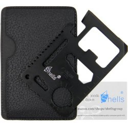 Shells 11 Function Classy Black Tungsten Steel Plating Military Pocket Credit Card Knife Emergency Camping Survival Kit