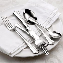 Oneida Juilliard 46-Piece Stainless Flatware Set, Service For 8 With Wooden Drawer Organizer/Caddy