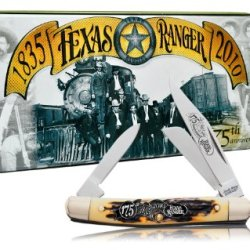 Schrade 807Trt Uncle Henry Jr. Folding Knife With Texas Rangers 175Th Anniversary Collector'S Tin