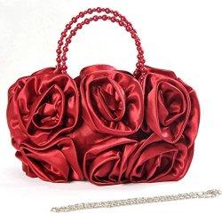 Dealinfinite Chinese Handmade Shoulder Bag Handbag Tote Rose