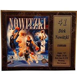 Nba Dallas Mavericks 12X15 Dirk Nowitzki Stats Plaque