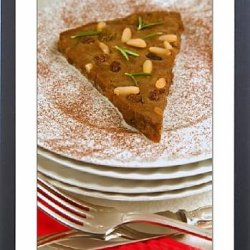 Framed Print Of Castagnaccio, Pie Of Chestnut Flour With Raisins, Rosemary And Pine Nuts