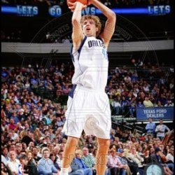 Dirk Nowitzki 2011-12 Action Art Poster Print Unknown 8X10