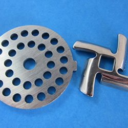 "3/16"" (5Mm) Disc And Knife For Waring Pro Nesco, Kalorik, Sunmile, Oster, Rival, Back To Basics Meat Grinder"