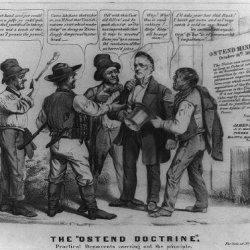 Photo: The Ostend Doctrine. Practical Democrats Carrying Out The Principle,1856