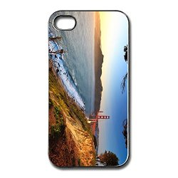 Geek Golden Gate Afternoon Bumper High Quality Plastic Cell Phone 5S Case