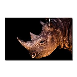 Wall Art Painting Rhinoceros Head Close Up Pictures Prints On Canvas Animal The Picture Decor Oil For Home Modern Decoration Print