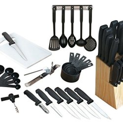 Flare 41-Piece Kitchen Essentials Combo Set Cutlery,Board,Utensils, Knife + More