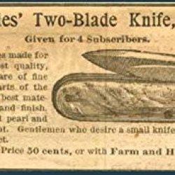 1892 Ad For Lovely Ladies Pearl Handled Jack-Knife Original Paper Ephemera Authentic Vintage Print Magazine Ad / Article