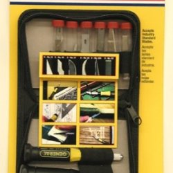 General Tools & Instruments 75622 Precision Knife And Blade Set, 22-Piece