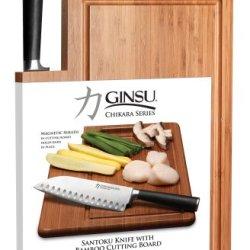 Ginsu Chikara Cutlery Series Japanese 420J2 Stainless Steel 7-Inch Santoku Blade 7102