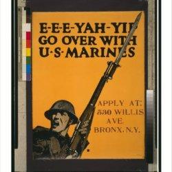 Historic Print (L): E-E-E-Yah-Yip Go Over With U.S. Marines.
